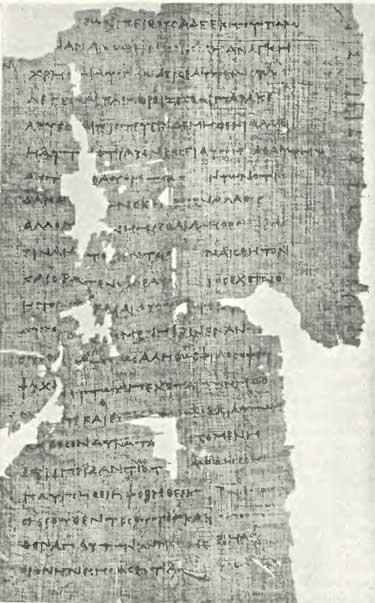 Papirus 488 del Fedó, Plató