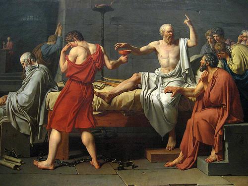 Sòcrates i els seus amics... argument del Fedó.